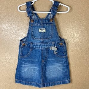 Oshkosh B'Gosh toddler girl jean overall dress